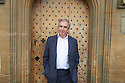 Robert Harris, thriller writer of The Fear Index   at The Oxford Literary Festival at Christchurch College Oxford  . Credit Geraint Lewis