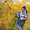 Erin Smith #21 of New York Institute of Technology plays defense during women's lacrosse team practice on NYIT's campus in Old Westbury on Wednesday, Oct. 19, 2016.