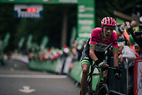 Hugh Carthy (GBR/Education First-Drapac) finishing 3rd up Whinlatter Pass<br /> <br /> Stage 6: Barrow-in-Furness to Whinlatter Pass (168km)<br /> 15th Ovo Energy Tour of Britain 2018