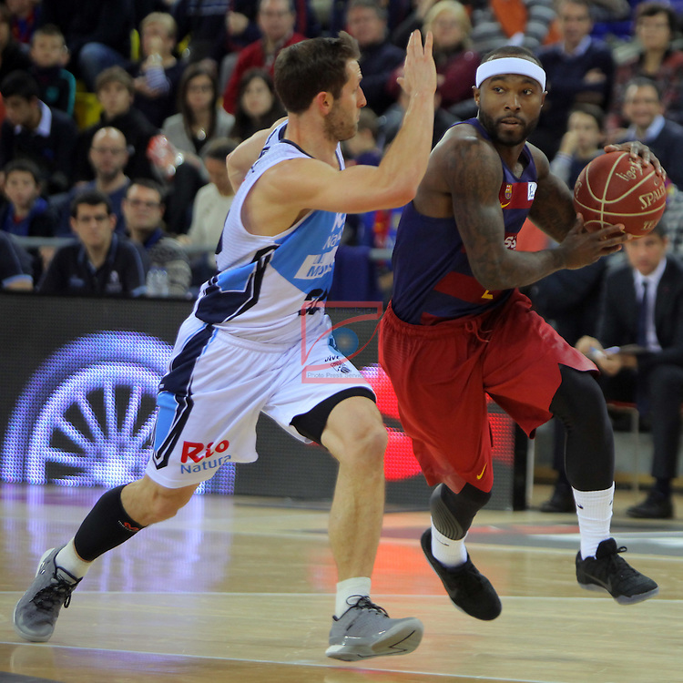 League ACB-ENDESA 2016/2017 - Game: 16.<br /> FC Barcelona Lassa vs Rio Natura Monbus Obradoiro: 100-76.<br /> Mickey McConnell vs Tyrese Rice.