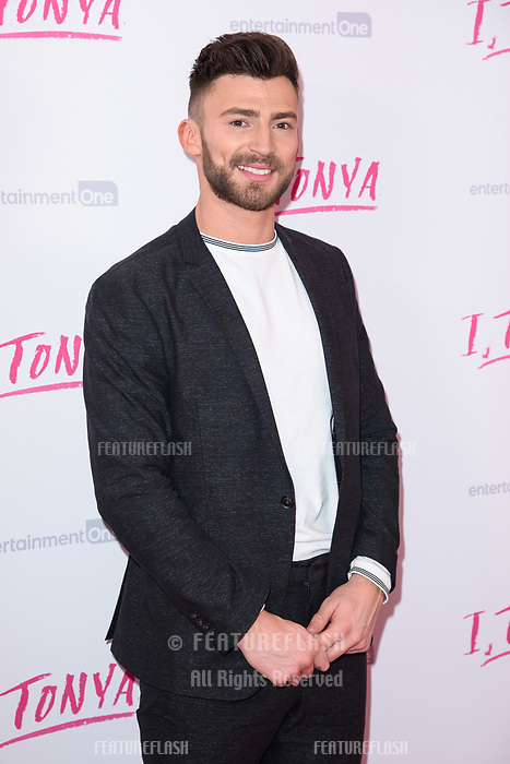 """Jake Quickenden at the """"I, Tonya"""" premiere at the Curzon Mayfair, London, UK. <br /> 15 February  2018<br /> Picture: Steve Vas/Featureflash/SilverHub 0208 004 5359 sales@silverhubmedia.com"""