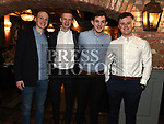 Donal and Padraic McKinney, Philip Traynor and Cian Commins at St Mary's GFC awards dinner in Muldoons. Photo:Colin Bell/pressphotos.ie