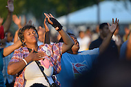 September 10, 2011 (Washington, DC)   People listen to Bishop Hezekiah Walker and feel the spirit at the 26th Annual Dorothy I. Height Black Family Reunion Celebration on the National Mall in Washington, DC  (Photo by Don Baxter/Media Images International)
