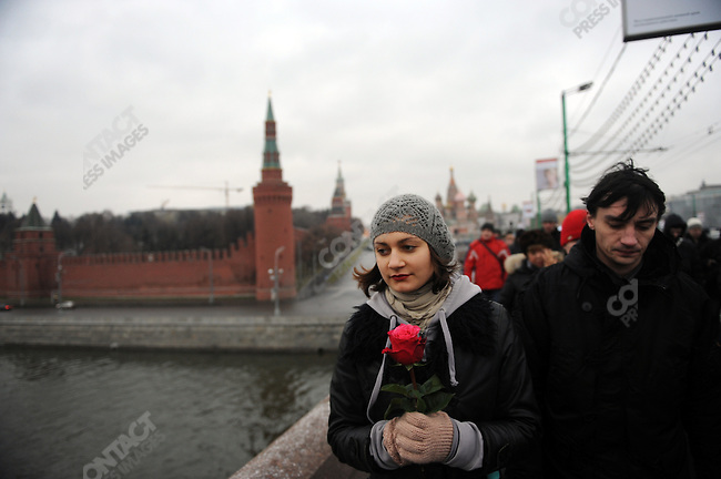 Thousand of people joined a demonstration today in Moscow protesting the results of the recent parliamentary elections. Here protestors made their way past the Kremlin to Bolotnaya Square the site of the demonstration. December 10, 2011