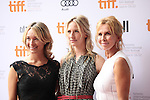[L-R] Producer Celine Rattray, Actress Mickey Sumner and Producer Trudie Styler attending the The 2012 Toronto International Film Festival.Red Carpet Arrivals for 'IMOGENE' at the Ryerson Theatre in Toronto on 9/7/2012