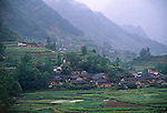 rural village in the lush countryside of the Three Gorges region, China, Asia