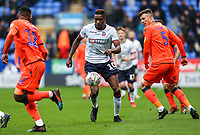Bolton Wanderers' Sammy Ameobi competing with Millwall's Mahlon Romeo <br /> <br /> Photographer Andrew Kearns/CameraSport<br /> <br /> The EFL Sky Bet Championship - Bolton Wanderers v Millwall - Saturday 9th March 2019 - University of Bolton Stadium - Bolton <br /> <br /> World Copyright © 2019 CameraSport. All rights reserved. 43 Linden Ave. Countesthorpe. Leicester. England. LE8 5PG - Tel: +44 (0) 116 277 4147 - admin@camerasport.com - www.camerasport.com