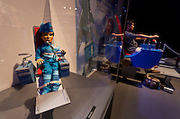 Thunderbird puppets on display at the Miraikan Science Museum in Odaiba, Tokyo, Japan. Sunday September 1st 2013