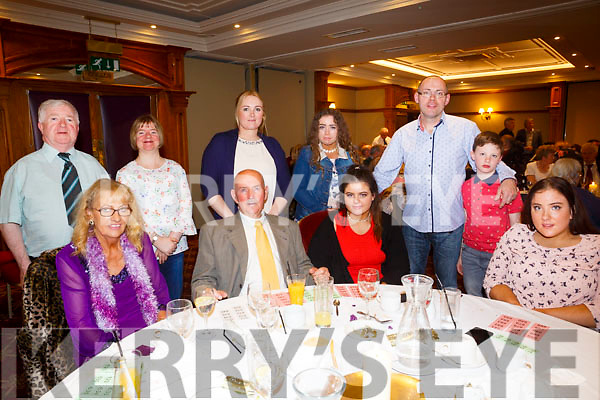 Enjoying the North Kerry Wheelchair Association Christmas party at Meadowlands Hotel on Sunday were front l-r Mary Bradbury, Matthew Murphy, Saoirse Murphy, Leah Hickey Back l-r Pat Mahony, Grace Mahony, Mairéad Hickey, Katelyn Murphy, John Hickey and Ben Hickey
