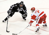Tim Schaller (PC - 11), Matt Grzelcyk (BU - 5) - The Boston University Terriers defeated the visiting Providence College Friars 4-2 (EN) on Saturday, December 13, 2012, at Agganis Arena in Boston, Massachusetts.