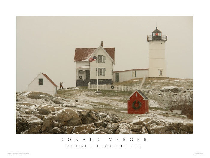 Dog Rescue at during Nubble Lighthouse Snow Storm