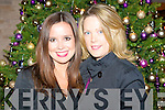 CHRISTMAS BELLS: Caroline Flahive and Mary O'Sullivan enjoying the Kerry Education Service Christmas Party at the Fels Point Hotel on Friday.