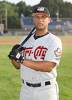2007:  Alberto Cruz of the Tri-City Valley Cats, Class-A affiliate of the Houston Astros, during the New York-Penn League baseball season.  Photo by Mike Janes/Four Seam Images