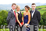 John Coridon, Jennifer Falvey, Treasa Ward and Shaun O'Mahony pictured at the Causeway Comprehensive School Debs at the Ballyroe Heights Hotel on Thursday.