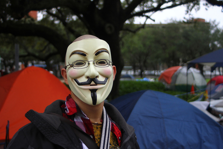 Anonymous mask during occupy miami