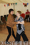 Linda Hicky, Ardfert and Kim O'Flaherty, Lyreacrompane enjoying the dancing last Sunday afternoon in Lyreacrompane for the Dan Paddy Andy music festival.