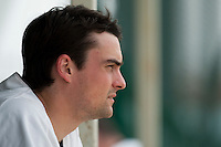 21 May 2009: Florian Peyrichou of Savigny is seen in the dugout during the 2009 challenge de France, a tournament with the best French baseball teams - all eight elite league clubs - to determine a spot in the European Cup next year, at Montpellier, France.