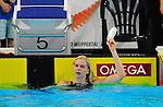 14.11.2010, Schwimmoper, Wuppertal, GER, Kurzbahn-Meisterschaft im Bild jubelt Britta Steffen nach Ihrem Sieg ueber 50m Freistil.<br />  Foto &copy; nph Freund