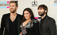 LOS ANGELES, CA - NOVEMBER 24: Charles Kelley, Hillary Scott, Dave Haywood of Lady Antebellum arriving at the 2013 American Music Awards held at Nokia Theatre L.A. Live on November 24, 2013 in Los Angeles, California. (Photo by Celebrity Monitor)