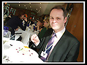 16/03/2009  Copyright Pic: James Stewart.File Name : sct_jspa01_parliament.DAILY MAIL REPORTER JONATHAN BROCKLEBANK TRIES OUT THE BARGAIN FOOD AT THE SCOTTISH PARLIAMENT'S MEMBERS RESTAURANT WASHED DOWN BY A NOT SO INEXPENSIVE WINE......James Stewart Photography 19 Carronlea Drive, Falkirk. FK2 8DN      Vat Reg No. 607 6932 25.Telephone      : +44 (0)1324 570291 .Mobile              : +44 (0)7721 416997.E-mail  :  jim@jspa.co.uk.If you require further information then contact Jim Stewart on any of the numbers above.........