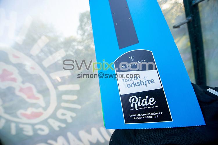 Picture by Allan McKenzie/SWpix.com - 06/05/2018 - Cycling - Maserati Human Race Sportive, Leeds, England - Maserati, signage.