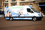 NHS Healthy Lifestyle van in central Hull, Yorkshire, England