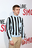 "LOS ANGELES - MAR 13:  Miles Heizer at the ""Love, Simon"" Special Screening at Westfield Century City Mall Atrium on March 13, 2018 in Century City, CA"