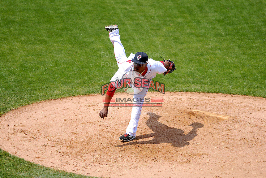 Pitcher Jason Rice #45 of the Pawtucket Red Sox during a game versus the Toledo Mud Hens on May 3, 2011 at McCoy Stadium in Pawtucket, Rhode Island. Photo by Ken Babbitt /Four Seam Images