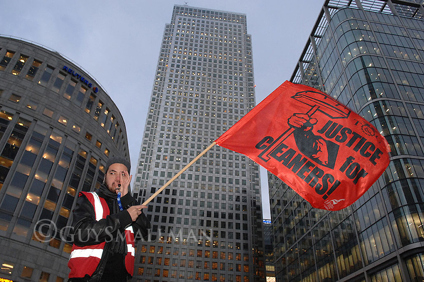 Justice for Cleaners hold a Halloween protest at CitiBank in Canary Wharf. They are demanding a pay rise for cleaners working in the city.