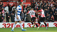 Bryan Mbeumo celebrates scoring Brentford's second goal during Brentford vs Queens Park Rangers, Sky Bet EFL Championship Football at Griffin Park on 11th January 2020