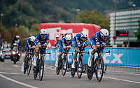 Team Quickstep Floors rolling in victoriously<br /> <br /> UCI MEN&lsquo;S TEAM TIME TRIAL<br /> Ötztal to Innsbruck: 62.8 km<br /> <br /> UCI 2018 Road World Championships<br /> Innsbruck - Tirol / Austria