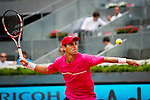 The tennis player Santiago Giraldo during the match against Andy Murray in the Madrid Open Tennis Tournament. In Madrid, Spain, on 08/05/2014.