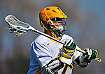 17 March 2012: University of Vermont Catamount Attackman Drew Philie, a Junior from Sandwich, MA, in action against the Sacred Heart University Pioneers at Virtue Field in Burlington, Vermont. The Catamounts defeated the visiting Pioneers 12-11 with only 10 seconds remaining in their non-conference matchup. Mandatory Credit: Ed Wolfstein Photo