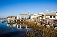 The historical Jekyll Island Wharf on Jekyll Island Georgia.