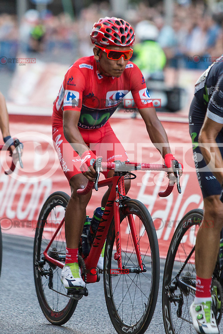 during the last stage or La Vuelta of Spain in Madrid. September 10, 2016. (ALTERPHOTOS/Rodrigo Jimenez) NORTEPHOTO.COM