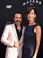 "LOS ANGELES - AUGUST 27: Michael Irby and Susan Elena Matus attend the season two red carpet premiere of FX's ""Mayans M.C"" at the ArcLight Dome on August 27, 2019 in Los Angeles, California. (Photo by Frank Micelotta/FX/PictureGroup)"