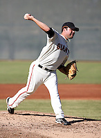 Kyle Nicholson / San Francisco Giants 2008 Instructional League..Photo by:  Bill Mitchell/Four Seam Images