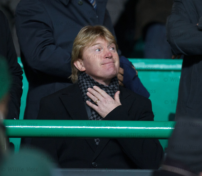 New Motherwell manager Stuart McCall watching on from the stand