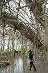 "Doug and Mike Starn's installation ""Big Bambu"", on the roof of the Metropolitan Museum of Art, New York City, New York, April 26, 2010"