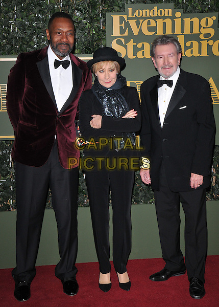 Sir Lenny Henry, Zoe Wanamaker &amp; Gawn Grainger  attend the London Evening Standard Theatre Awards 2015, The Old Vic, The Cut, London, England, UK, on Sunday 22 November 2015.<br /> CAP/CAN<br /> &copy;CAN/Capital Pictures