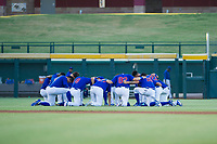 AZL Cubs players join together for a pre-game prayer before the game against the AZL Diamondbacks on August 11, 2017 at Sloan Park in Mesa, Arizona. AZL Cubs defeated the AZL Diamondbacks 7-3. (Zachary Lucy/Four Seam Images)