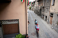 Cesare Benedetti (ITA/Bora-Hansgrohe) & Marco Haller (AUT/Katusha-Alpecin) forming the first breakaway group <br /> <br /> Stage 14: Saint Vincent to Courmayeur/Skyway Monte Bianco (131km)<br /> 102nd Giro d'Italia 2019<br /> <br /> ©kramon