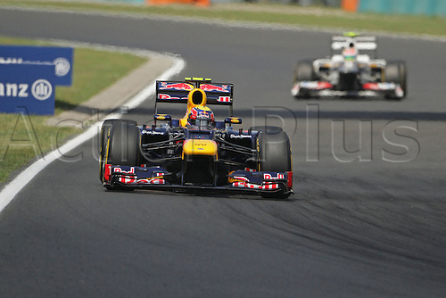 28.07.2012. Budapest, Hungary. Hungarian F1 Grand Prix Hungaroring Qualification Mark webber sets fastest time in teh 2rd F1 practice session