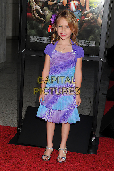 "Ava Kolker.Attending the ""Scary Movie 5"" Los Angeles film premiere held at the Cinerama Dome,  Hollywood, California, USA, .11th April 2013..full length purple blue print dress  .CAP/ADM/BP.©Byron Purvis/AdMedia/Capital Pictures"