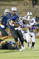 Hendrickson's Samaje Perine legs proved difficult for Cedar Ridge to contain Friday at Hawk Stadium.  The Hawks lead Cedar Ridge at the half 27-6.  LOURDES M SHOAF/Round Rock Leader