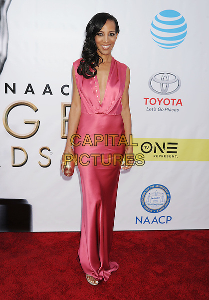 PASADENA, CA - FEBRUARY 11: TV personality Shaun Robinson arrives at the 48th NAACP Image Awards at Pasadena Civic Auditorium on February 11, 2017 in Pasadena, California.<br /> CAP/ROT/TM<br /> &copy;TM/ROT/Capital Pictures