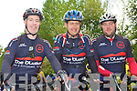 HOSTS: Member's of the Chain Gang Cycle Club who hosted the Chain Gang Challenge around West Kerryat the CBS the Green, Tralee on Saturday l-r: Maurice Hanafin, Lloyd Fitzpatrick and Brendan O'Connell.