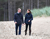 08 May 2019 - Wales, UK - Prince William Duke of Cambridge and Kate Duchess of Cambridge Katherine Catherine Middleton walk along Newborough Beach on Anglesey. Photo Credit: ALPR/AdMedia