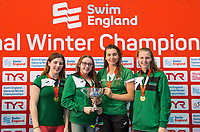 Picture by Allan McKenzie/SWpix.com - 15/12/2017 - Swimming - Swim England Winter Championships - Ponds Forge International Sports Centre, Sheffield, England - Nova Centurion win the womens open 800m freestyle team final.