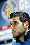 Getafe's Victor Rodriguez in press conference after La Liga match. January 30,2016. (ALTERPHOTOS/Acero)